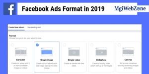 Facebook Ads Format in 2019