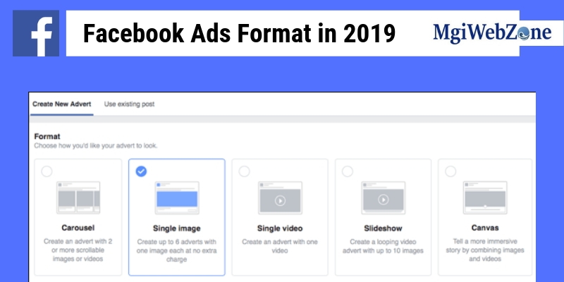 Facebook Ads Format in 2019