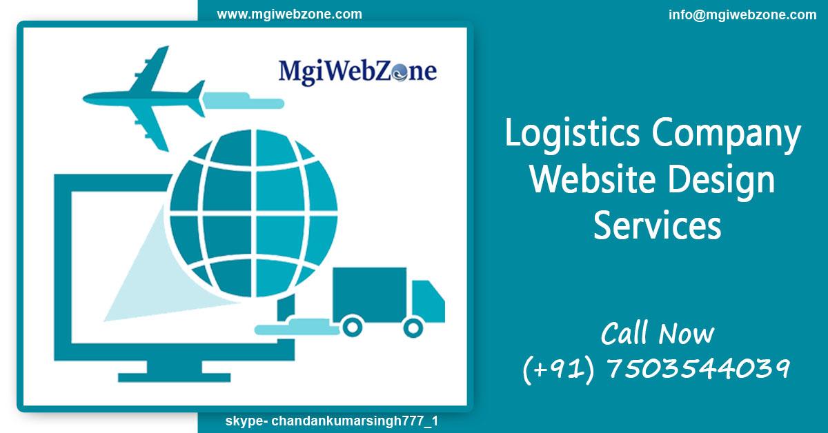 logistics company website design services
