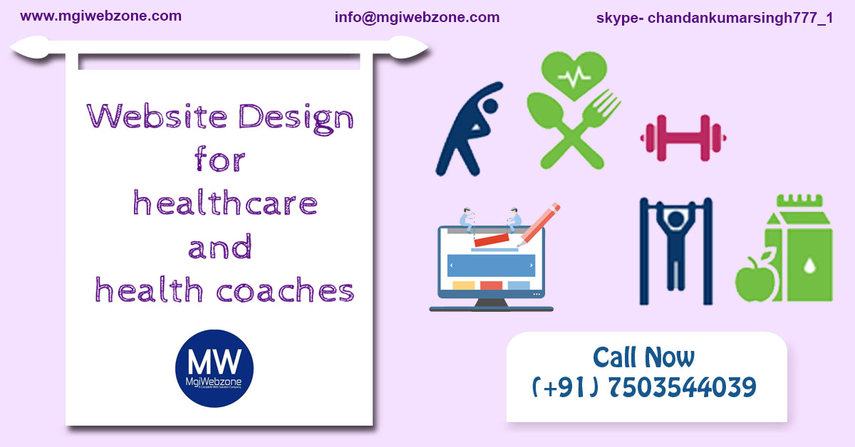 website design for healthcare and health coaches