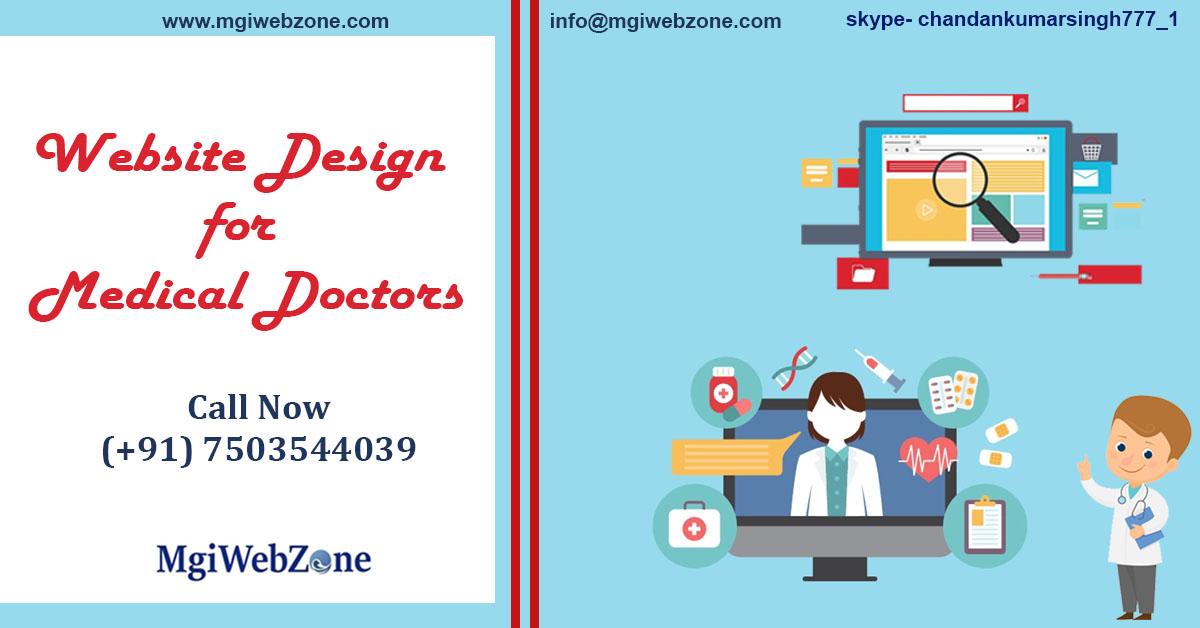 website design for medical doctors