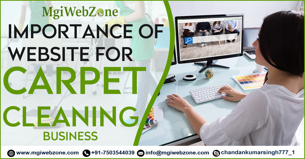 importance of website for carpet cleaning business