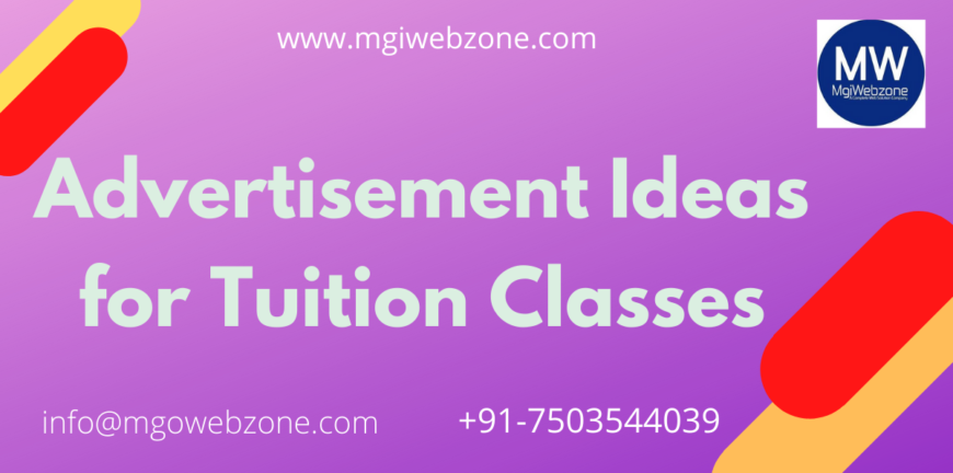 Advertisement ideas for tuition classes