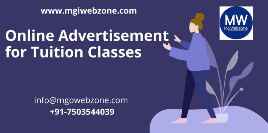 Online advertisement for tuition classes
