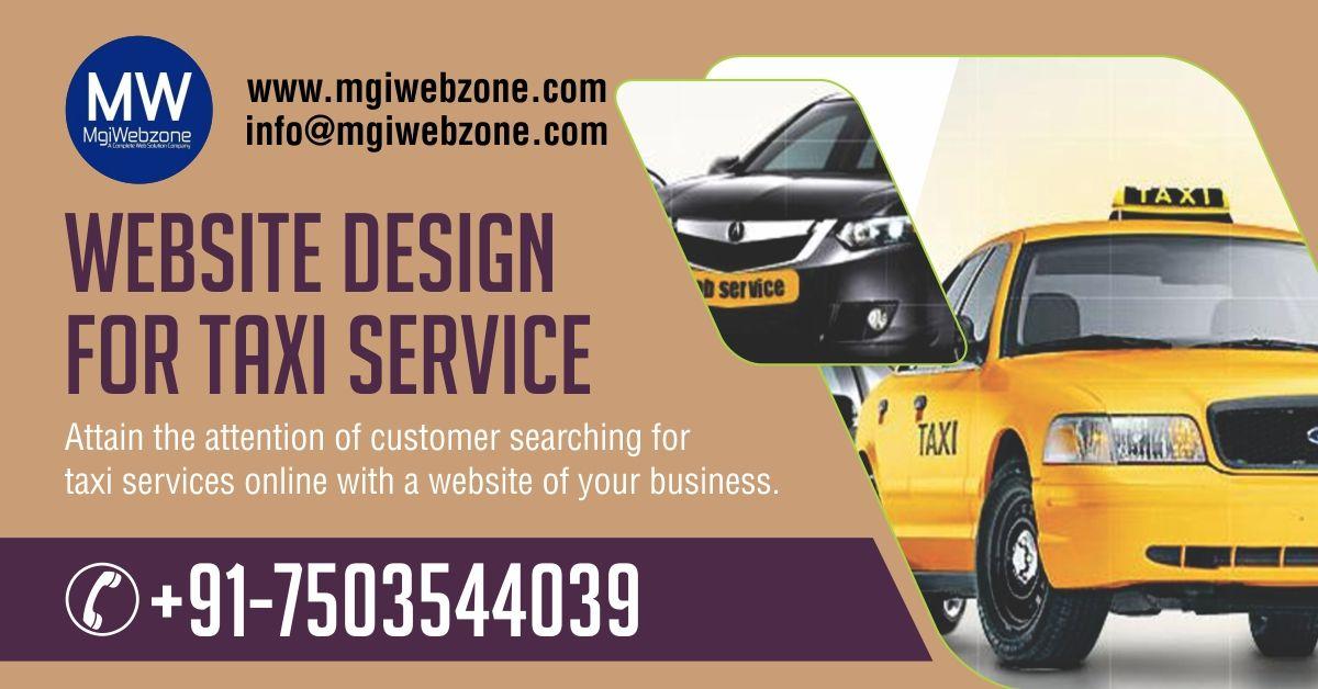 website design for taxi service